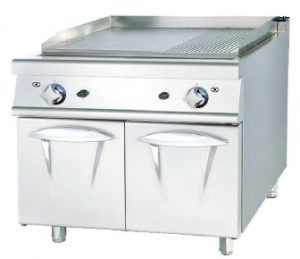 Maquinas Hosteleria -Fry-top mueble a gas luxury serie 730 doble