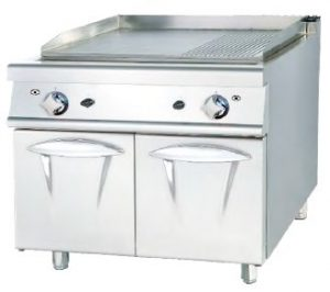 Maquinas Hosteleria -Fry-top mueble a gas luxury serie 900 doble